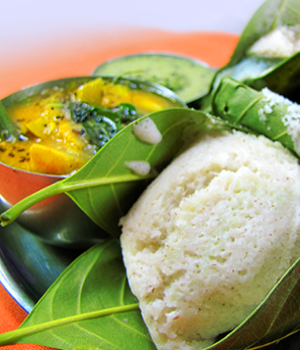 Khotto - Idli steamed with jackfruit leaves-thumb